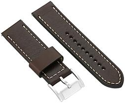 Fossil S241077 24mm Leather Calfskin Brown Watch Strap
