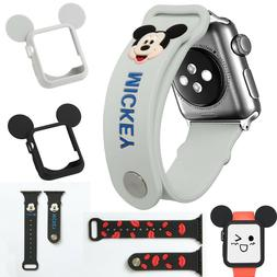 Set for Apple Watch 4 3 2 Cute Mickey Disney Soft Silicone P
