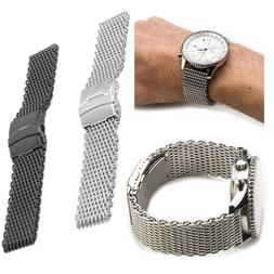 Shark Mesh Stainless Steel Watch Band Strap fits Breitlin Th
