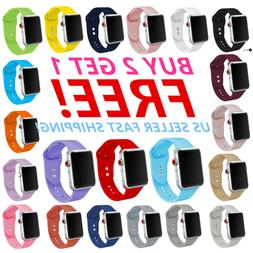 Silicone Band Bracelet Strap Sports Bands For Apple Watch iW