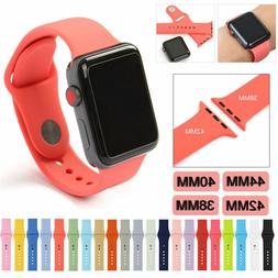 Silicone Bracelet Band Strap Sport Bands For Apple Watch iWa