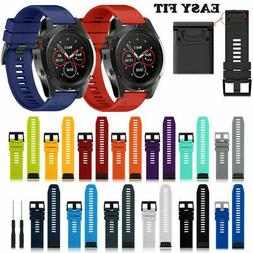 Silicone Quick Install Band Easy Fit Wrist Strap For Garmin