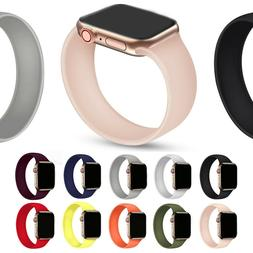 Silicone Solo Loop Strap Watch Band Bracelet for Apple Watch