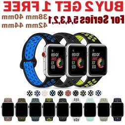 Silicone Sport Replacement Band 38mm 42mm For Nike+ Apple Wa