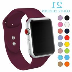 Silicone Sport Replacement Band Strap For Apple Watch Series