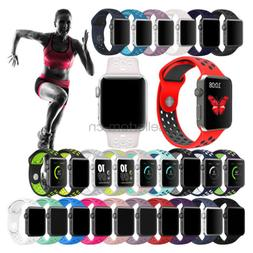 Silicone Sport Watch Band Strap For Apple Watch iWatch 4 3 2