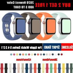 NEW 2020 Colors Silicone Sports Apple Watch Band Strap for i