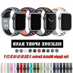 Silicone Sports iWatch Band Strap for Apple Watch Series SE