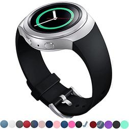 Lakvom Silicone Sport Style Watch Band for Samsung Gear S2 -