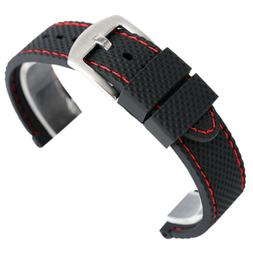 Silicone Watch Band 18mm 20mm 22mm 24mm Mens Sport Diver Wat