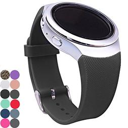 CoJerk Silicone Watch Band for Samsung Gear S2 - Black Twill