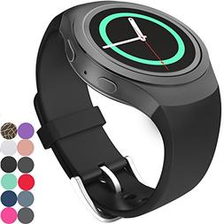 CoJerk Silicone Watch Band for Samsung Gear S2 - Black