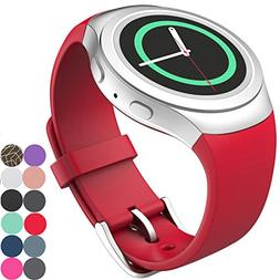 CoJerk Silicone Watch Band for Samsung Gear S2 - Red