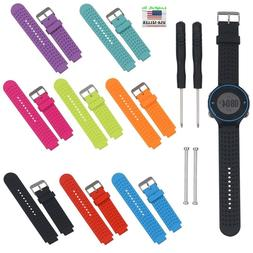 Silicone Watch Band Strap w/Tool for Garmin Forerunner 220 2