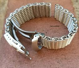 CLEARANCE 22mm ALL Brushed Shark Stainless Steel Mesh Watch