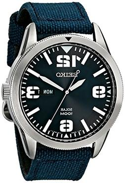 Seiko Men's SNE329 Sport Solar-Powered Stainless Steel Watch