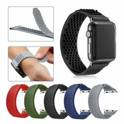 Soft Silicone Sport strap Band No-Buckle Applei Watch Series
