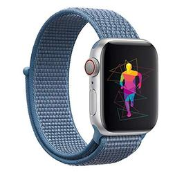 INTENY Sport Band Compatible with Apple Watch 40mm, Soft Lig