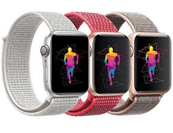 INTENY Sport Band Compatible with Apple Watch 42mm, Soft Lig