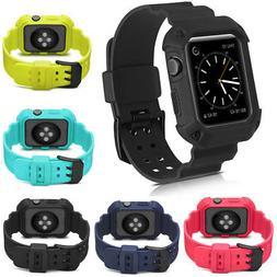 Sport Silicone Band Strap iWatch Case For Apple Watch Series