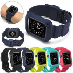 sport silicone band strap with iwatch bumper