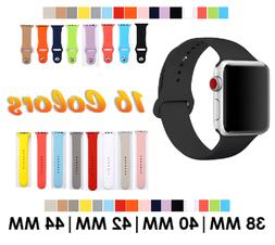 Sport Silicone Watch Band Strap for Apple Watch Series 4 3 2