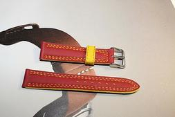 sports water resistant 18mm watch band fits