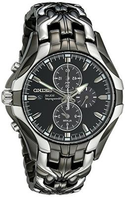 Seiko Men's SSC139 Excelsior Gunmetal and Silver-Tone Stainl
