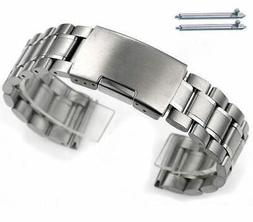 Stainless Steel Bracelet Replacement Watch Band Strap Push B