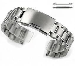 Stainless Steel Bracelet Silver 19mm 21mm 23mm Replacement W