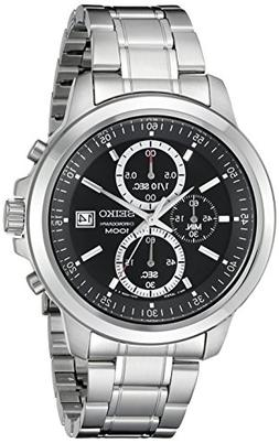 Seiko Mens Stainless Steel Chronograph Watch SKS445