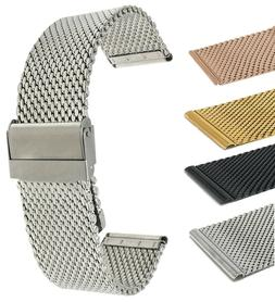 Bandini Stainless Steel Mesh Watch Band Strap, Thick Metal -