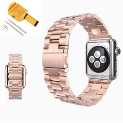 Stainless Steel Wrist Watch Band Bracelet Clasp for Apple Wa