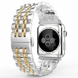 Stainless Steel Wrist Watch Band Strap Bracelet For Apple Wa