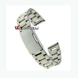 Stainless Steel Wristwatch Band Watch Solid Links Silver Bra