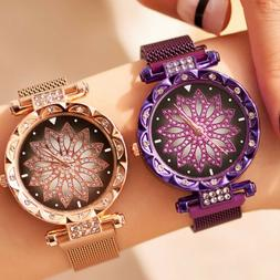 Starry Sky Watch Magnetic Milanese Loop Band Quartz Diamond