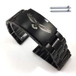 Steel Metal Bracelet Replacement Watch Band Strap Black Eagl