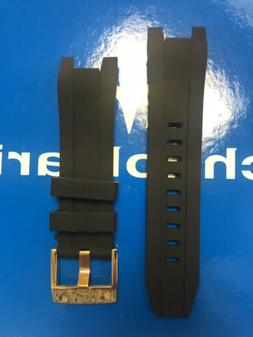 TechnoMarine Strap Solid Black with Gold Buckle For 48mm UF6