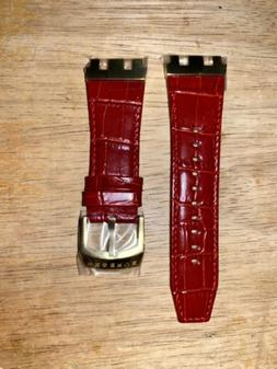 """Invicta Subaqua SAS """"Specialty"""" Leather Red & Gold Watch"""