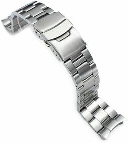 22mm Super Oyster curved end watch band for SEIKO Diver SKX0