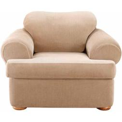 Sure Fit Stretch Stripe Separate Seat T-Cushion Chair Slipco