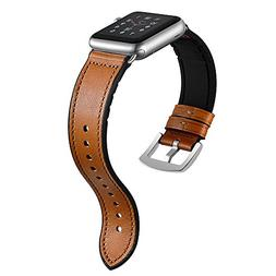 Sweatproof Hybrid Leather Sports Watch Band Vintage Replacem