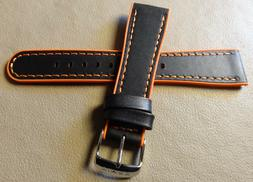 Timex T2M248 Black 22mm Chronograph Watch Band High Contrast