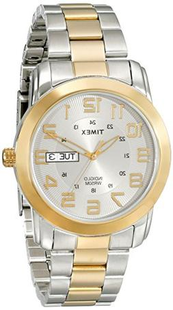 Timex Men's T2N439 Highland Street Two-Tone Stainless Steel