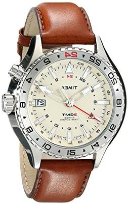 Timex Men's T2P426DH Intelligent Quartz 3-GMT Stainless Stee