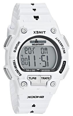 "Timex Men's T5K429 ""Ironman"" Watch with White Resin Band"