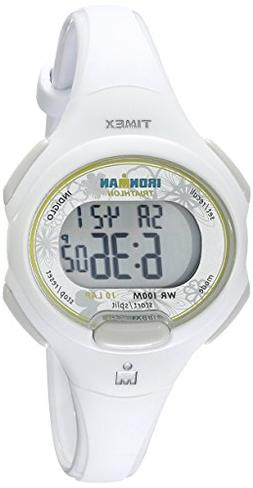 Timex Women's T5K606 Ironman Traditional 10-Lap White Resin