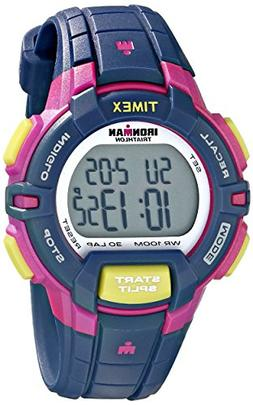 Timex Women's T5K813 Ironman Rugged 30 Mid-Size Blue/Pink Co
