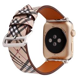 MeShow TCSHOW 38mm 40mm Tartan Plaid Style Replacement Strap