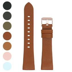 StrapsCo Textured Leather Watch Band Strap for Rose Gold Fit